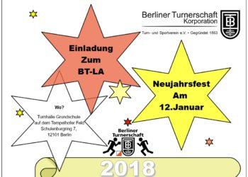 BTLA Neujahrsfest / Jahreshauptversammlung 23.Februar 2018