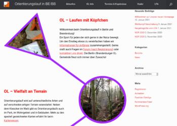 Neue Webseite für Orientierungslauf in Berlin und Brandenburg